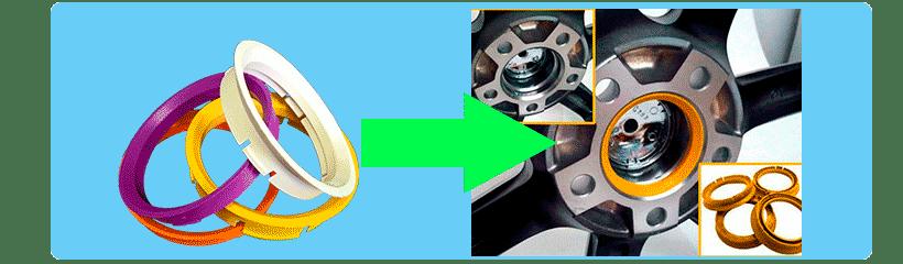Центровочные кольца - центровка литых новых и б/у дисков
