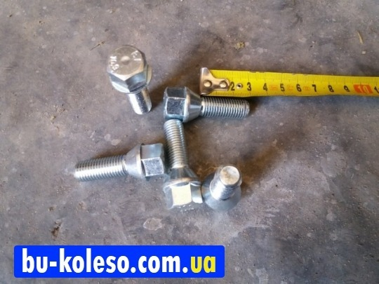 Болт колесный М12х1,5х30 конус ключ 17