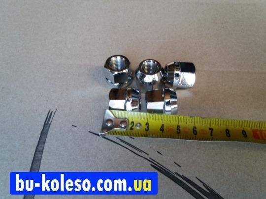 Гайка колесная М12х1.5х25 ключ 19