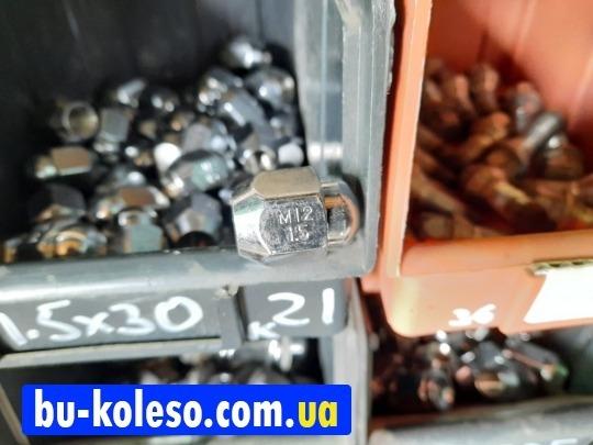 Гайка колесная М12х1.5х30 ключ 21 конус закрытая