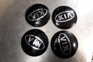 Наклейка эмблема дисков логотип KIA 56 мм