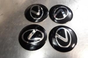 Наклейка эмблема дисков логотип Lexus 56 мм
