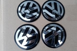 Наклейки дисков металлизированные Volkswagen 75 мм