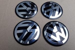 Наклейки дисков металлизированные Volkswagen 70 мм