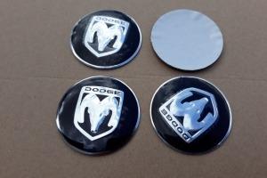 Наклейки эмблемы дисков металлические Dodge 56 мм