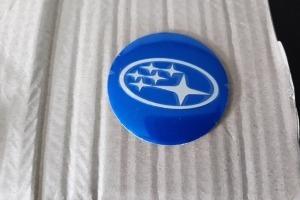 Наклейки дисков металлизированные Subaru 56 мм