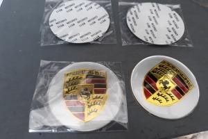 Наклейки дисков металлизированные PORSCHE 65 мм